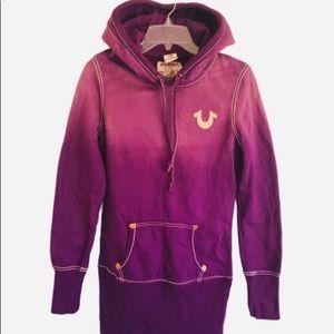"True Religion Super Long ""faded"" hoodie M"